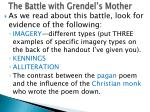 the battle with grendel s mother