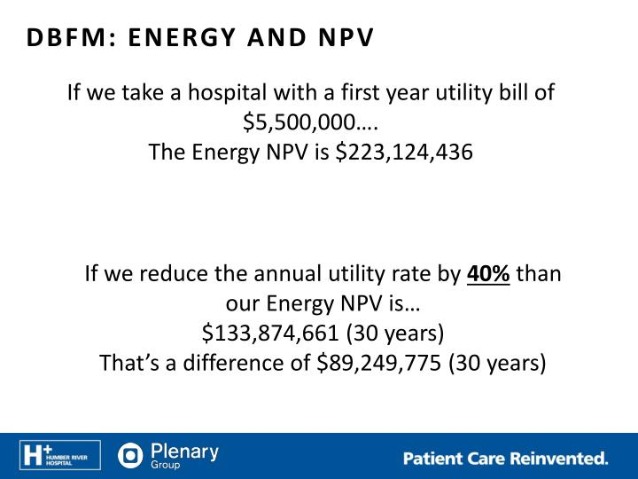 If we take a hospital with a first year utility bill of $5,500,000….