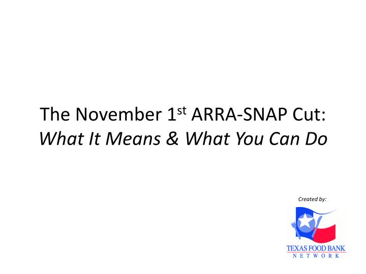 the november 1 st arra snap cut what it means what y ou c an d o n.