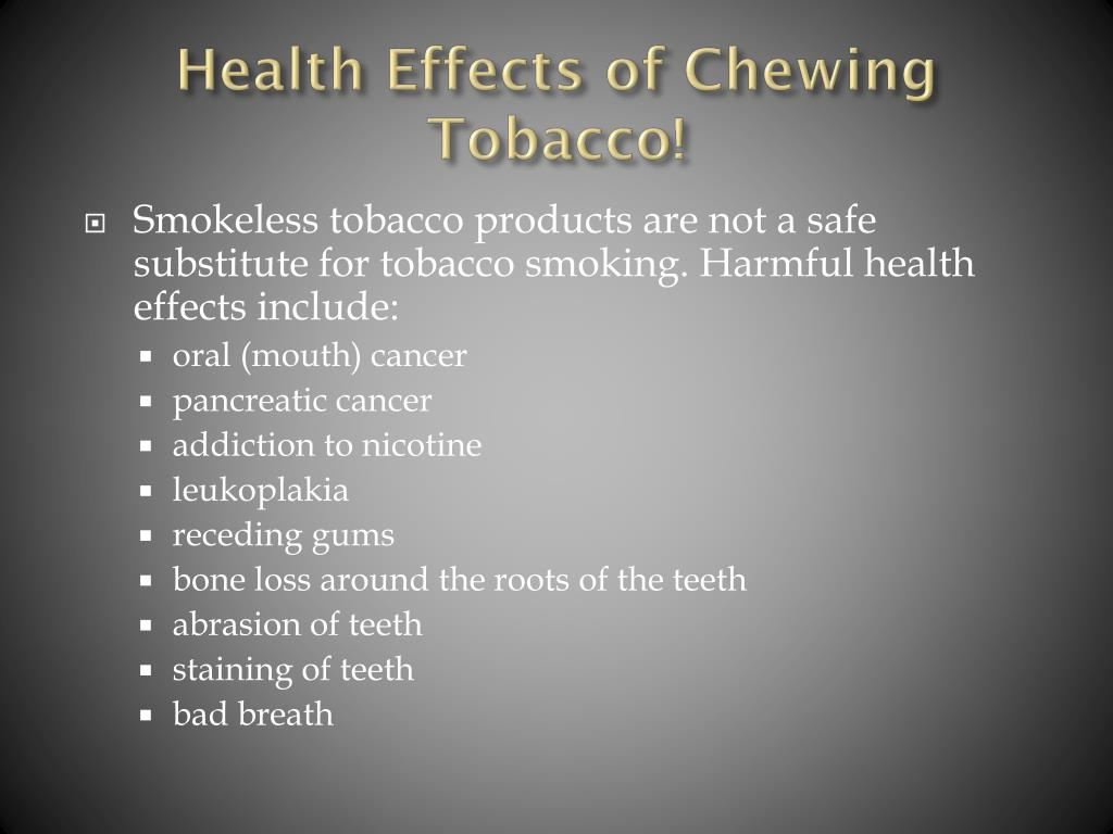 PPT - Cigarette Smoking and Chewing Tobacco PowerPoint