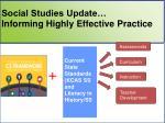 social studies update informing highly effective practice