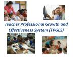 teacher professional growth and effectiveness system tpges