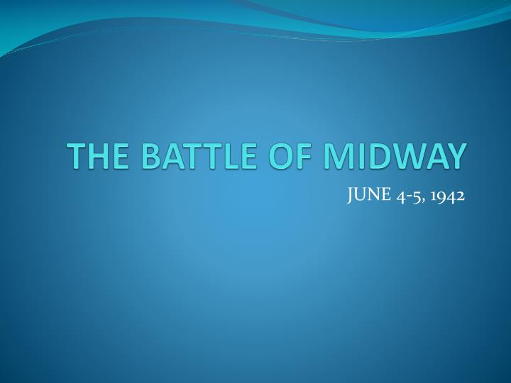 the battle of midway n.