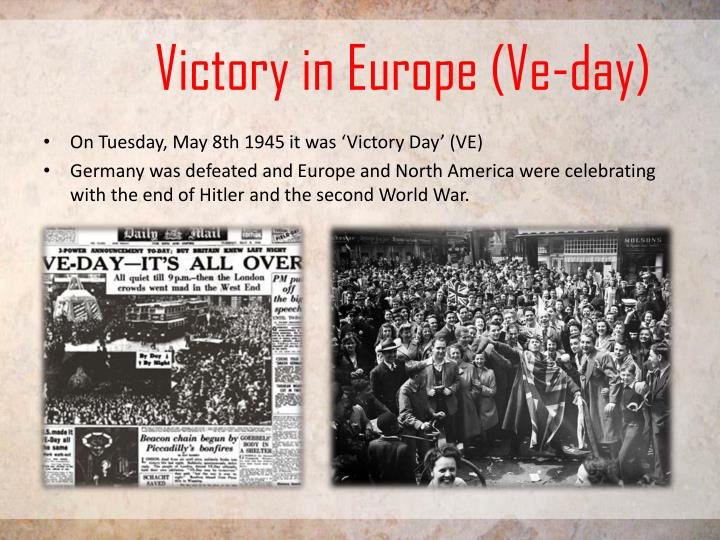 Victory in Europe (Ve-day)