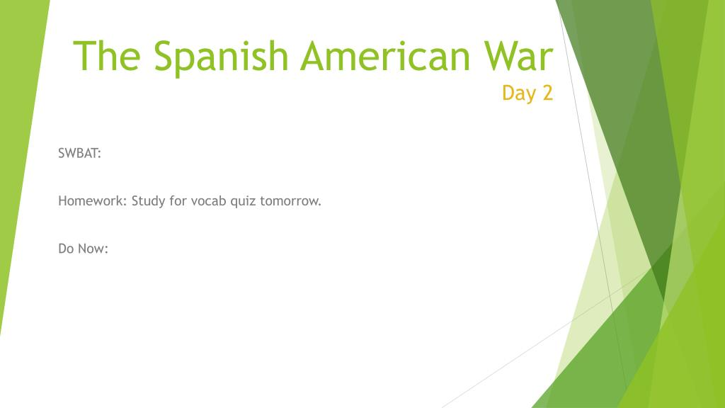 PPT The Spanish American War Day One PowerPoint