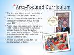 arts focused curriculum