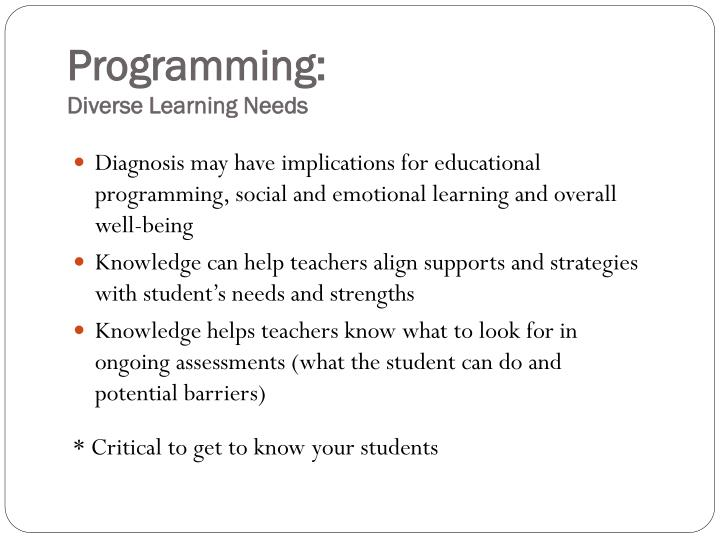 Programming: