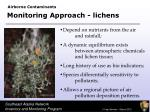monitoring approach lichens