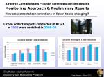 monitoring approach preliminary results8