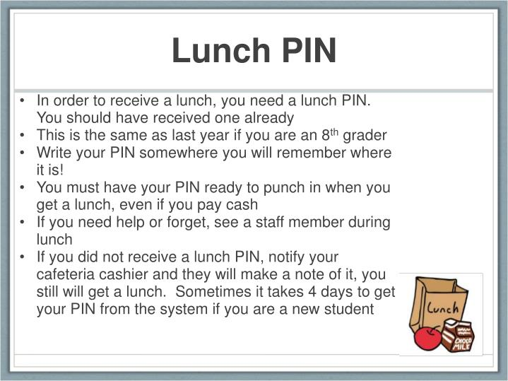 Lunch pin