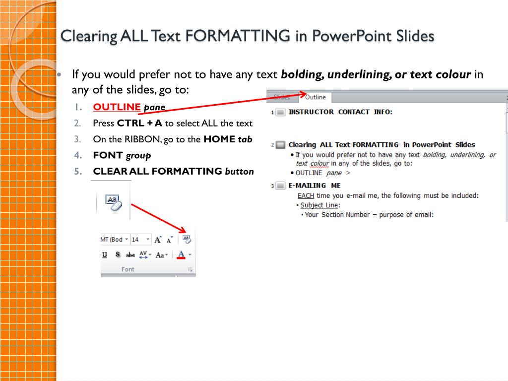 ppt clearing all text formatting in powerpoint slides powerpoint