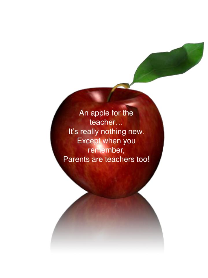 An apple for the teacher…