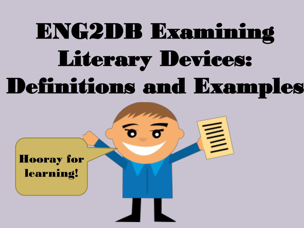Ppt Eng2db Examining Literary Devices Definitions And Examples