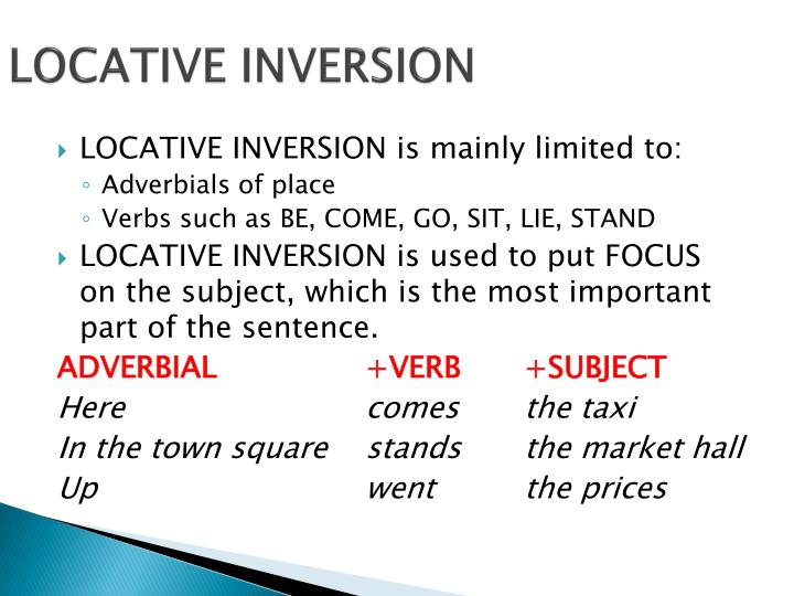 LOCATIVE INVERSION