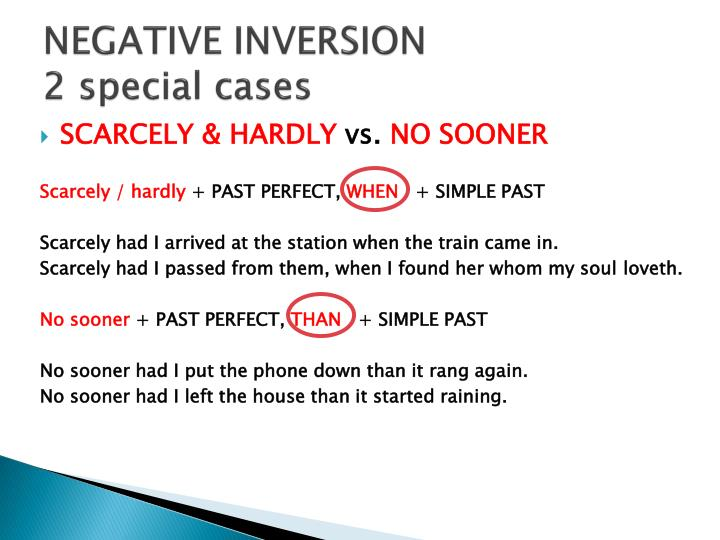 NEGATIVE INVERSION