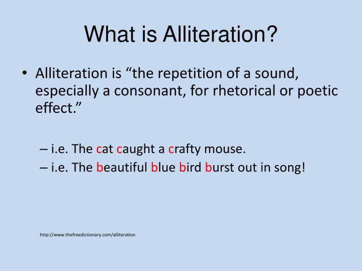 Ppt What Is Alliteration Powerpoint Presentation Id2533156
