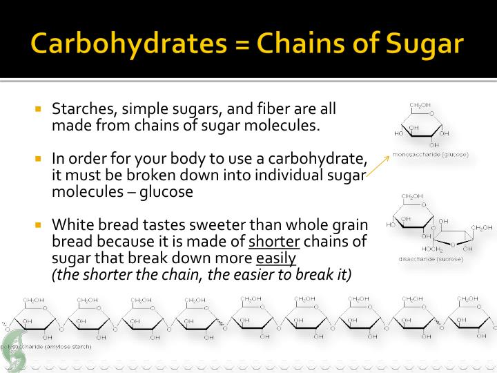 Carbohydrates = Chains of Sugar