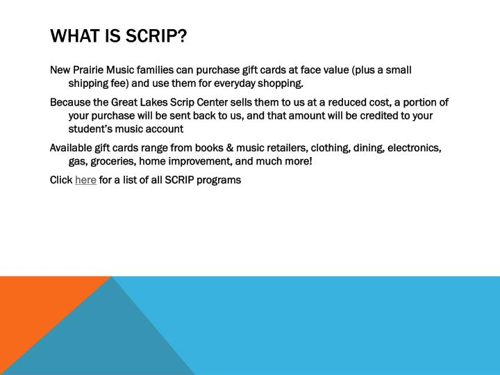 What is scrip