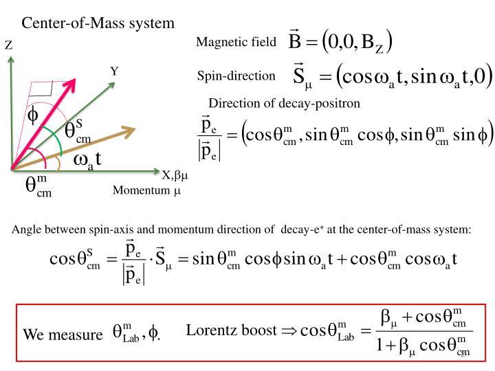 Center-of-Mass system