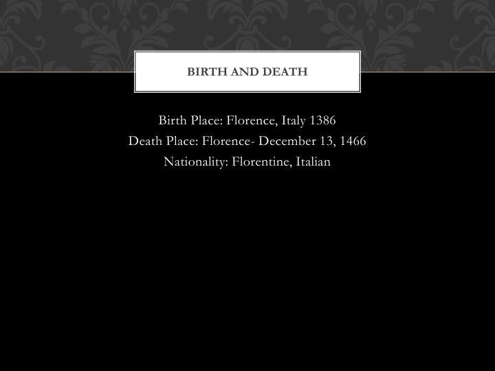 Birth and death
