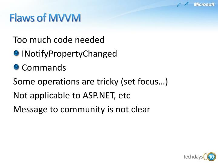 Flaws of MVVM