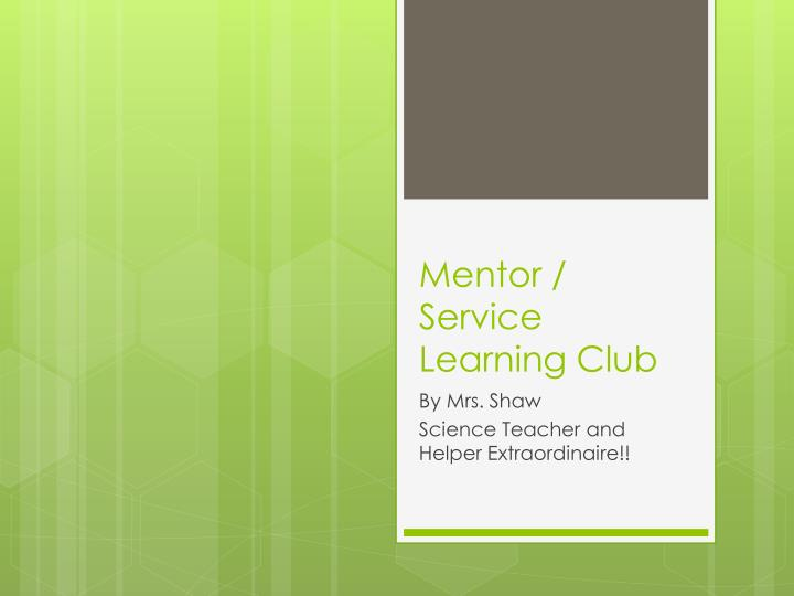 mentor service learning club
