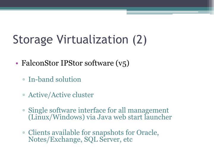 Storage Virtualization (2)