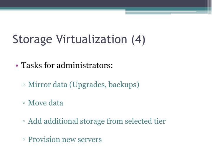 Storage Virtualization (4)