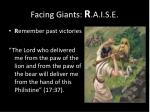 facing giants r a i s e