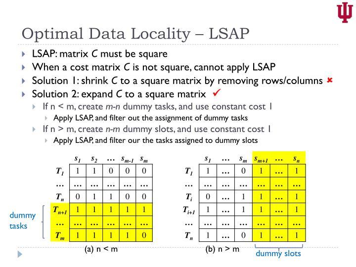 Optimal Data Locality – LSAP