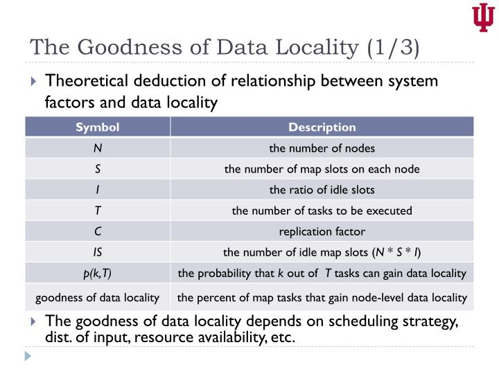 The Goodness of Data Locality (1/3)