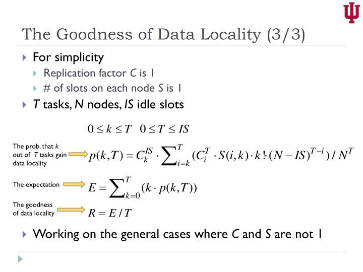 The Goodness of Data Locality (3/3)