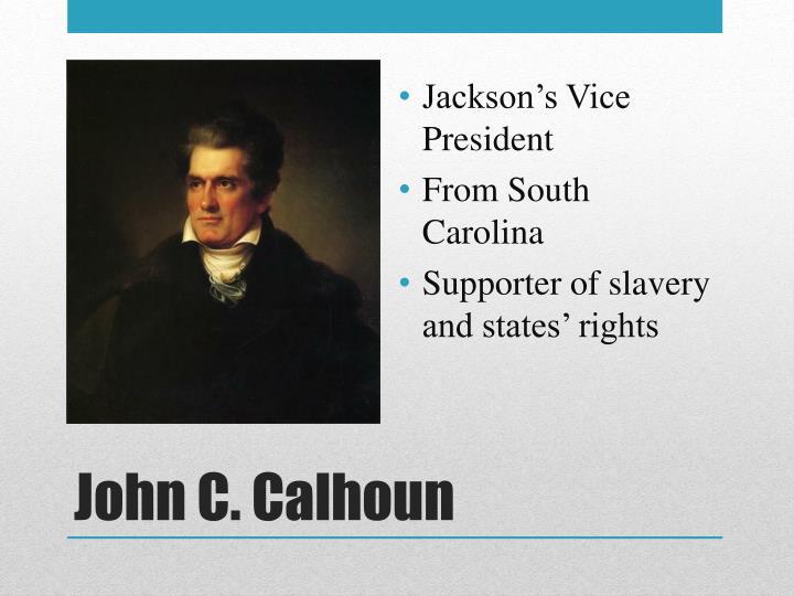 Jackson's Vice President