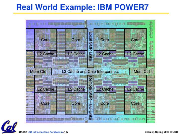 Real World Example: IBM POWER7