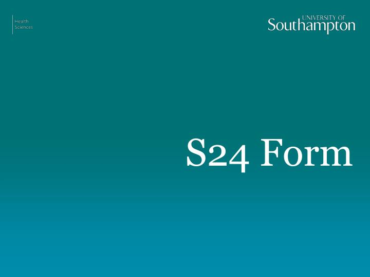 S24 Form