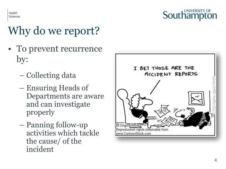 Why do we report?