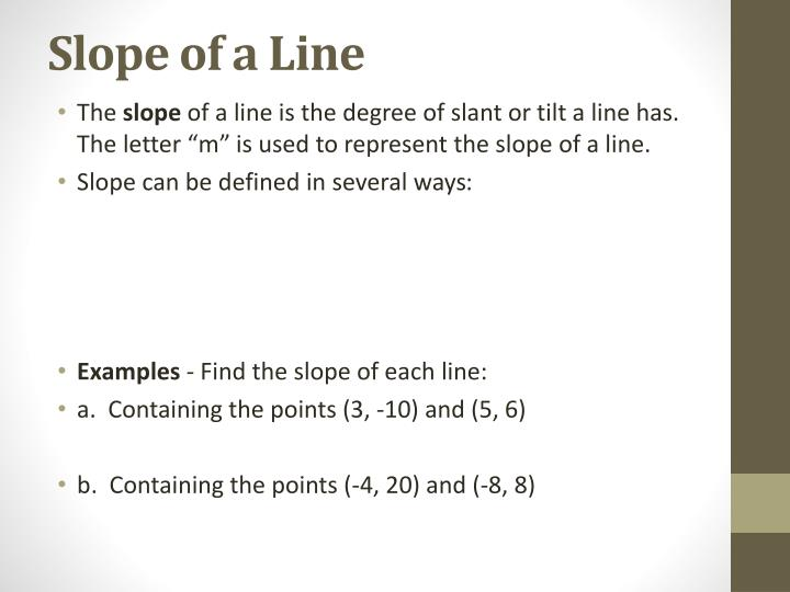 Slope of a