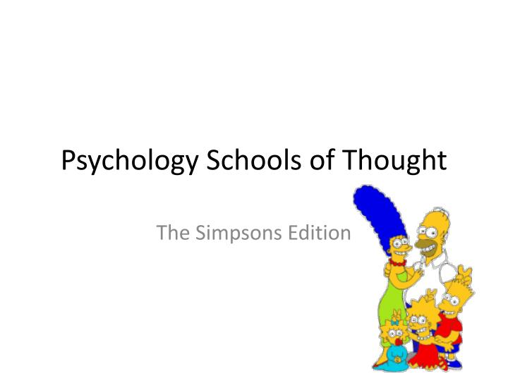 psychology schools of thought n.