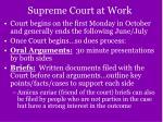 supreme court at work