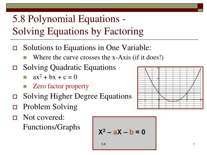 5 8 polynomial equations solving equations by factoring n.