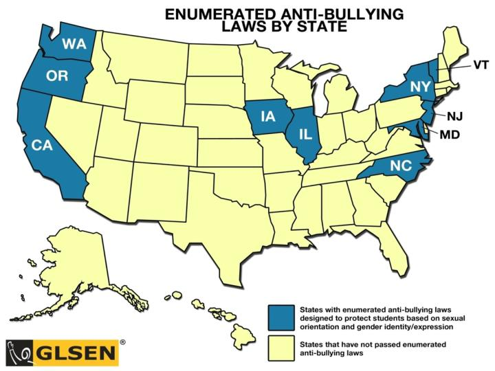 Anti-Bulling Law Map
