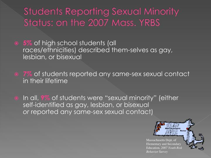 Students Reporting Sexual Minority Status: on the 2007 Mass. YRBS