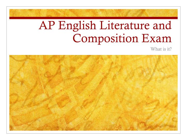 ap english literature and composition exam n.
