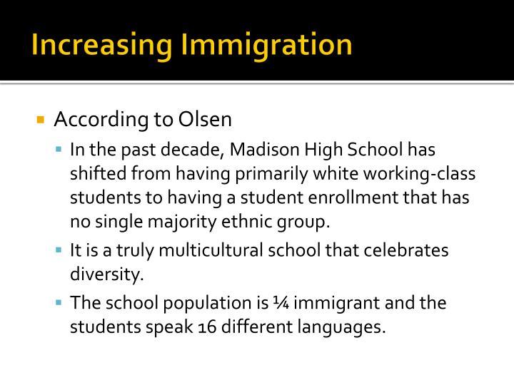 Increasing immigration