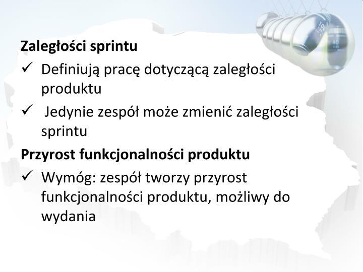 Zaległości sprintu