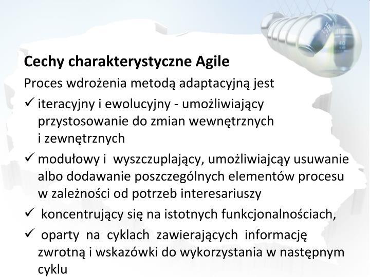 Cechy charakterystyczne Agile