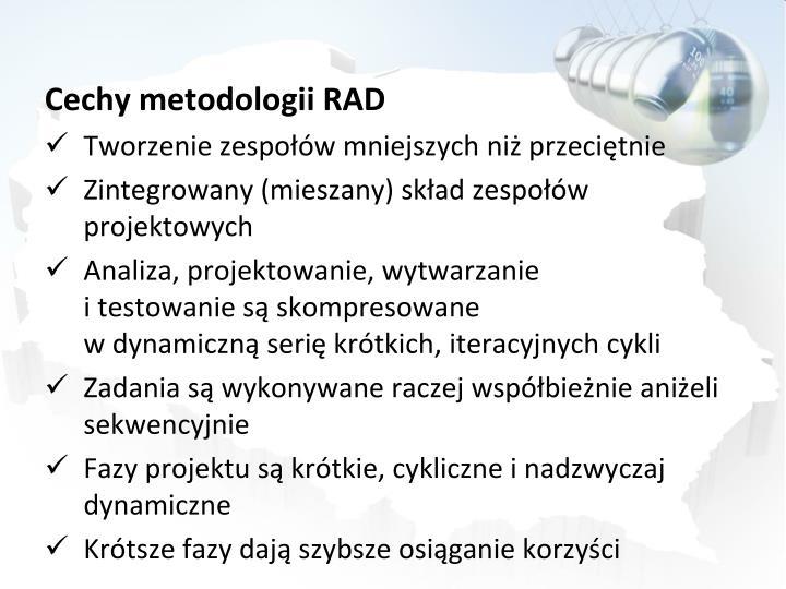 Cechy metodologii RAD