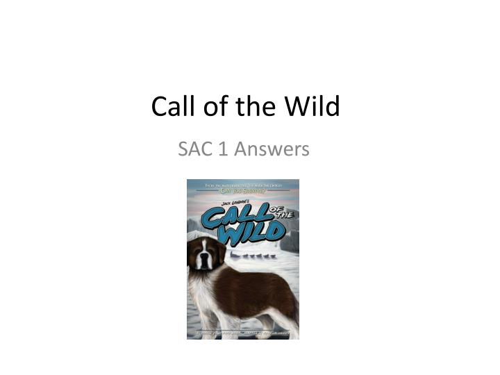 the call of the wild answer The call of the wild is a short adventure novel by jack london published in 1903 and set in yukon, canada, during the 1890s klondike gold rush, when strong sled dogs were in high demand.