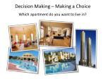 decision making making a choice