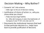 decision making why bother